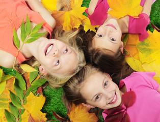 Happy autumn girls