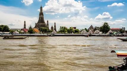wat arun riverside in bangkok Thailand
