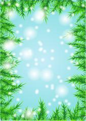 christmas background on blue
