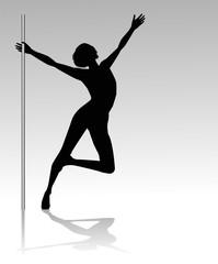 silhouette di ragazza che balla la lap dance