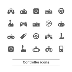 Game controller icons set.