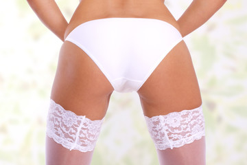 sexy Frauen Hintern in Unterwäsche