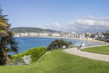 Beach of La Concha, Donostia San Sebastian panoramic view