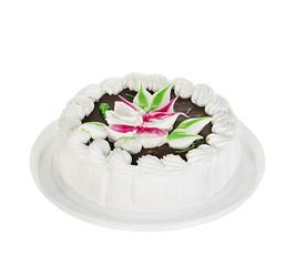 Cake isolated on white background