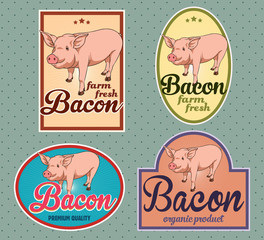 Bacon vintage labels