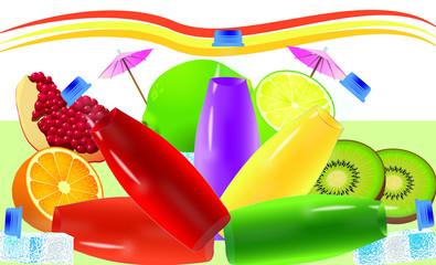 meyve suyu, soda,meyveli soda