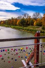 Thalkirchner Brücke München mit Liebesschlössern