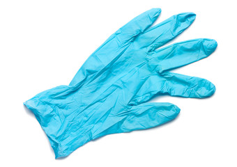Surgical Latex Glove on White