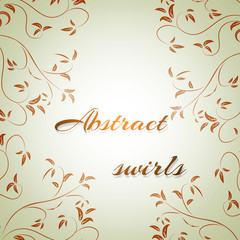 abstract flowers on a light background for text