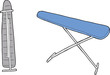 Isolated Ironing Board