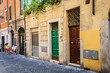 canvas print picture - Old streets of Rome, Italy