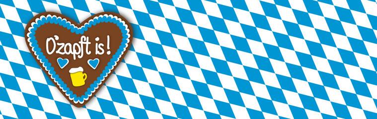 "Banner Oktoberfest ""O'zapft is"""