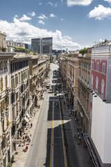 Genova dall'alto - Via venti settembre