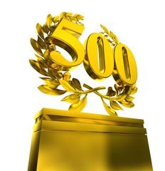 500 fife-hundred number laurel wreath