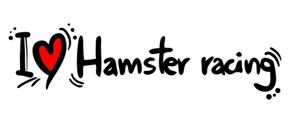 Hamster racing love