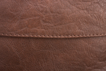 Brown leather with detail and texture