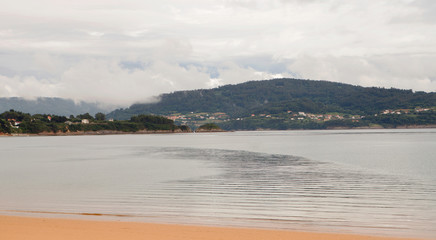 Peaceful seascape in Galicia