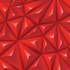 Polygon creative red triangular diamond vector background
