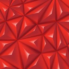 Polygon creative red triangular diamond vector background