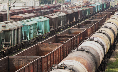 old freight trains