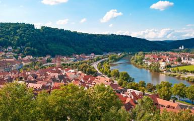 Blick auf die Altstadt von Wertheim am Main