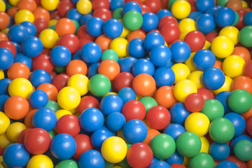 Close-up of a ball pool