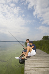Young men fishing