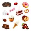 Confectionery, vector set 2