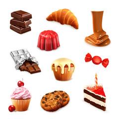 Confectionery, vector set 3