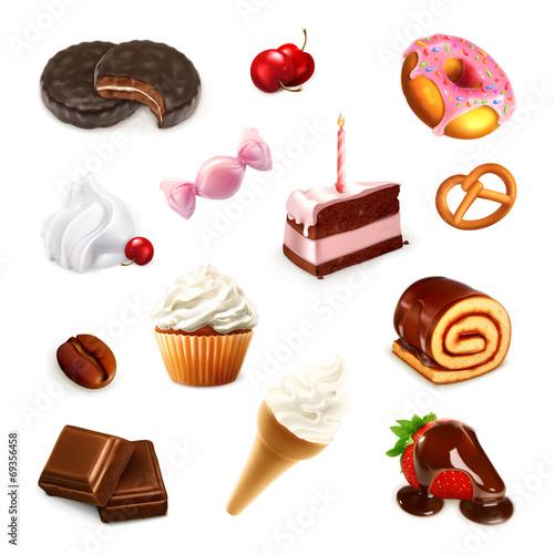 Confectionery, vector set 2 - 69356458