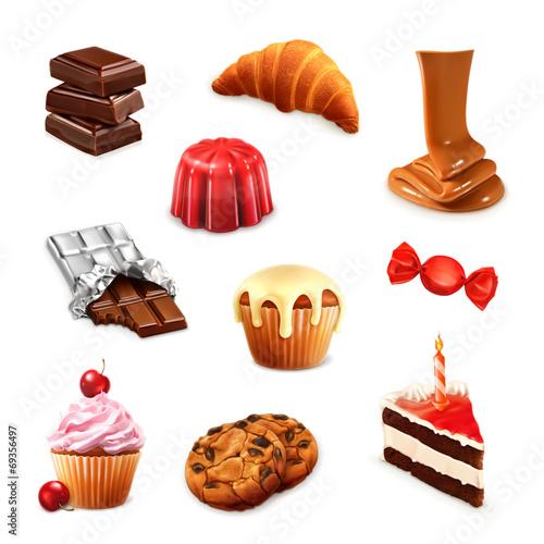 Confectionery, vector set 3 - 69356497