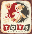 Vintage toy store metal sign design concept - 69356613