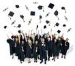 Multiethnic Group of Student in Graduation Ceremony