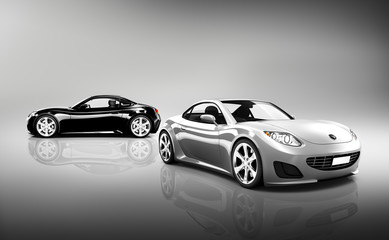 3D Image of Luxury Sport Cars