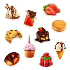 Confectionery, vector set 1