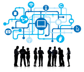 Business People Working and Technology Concept