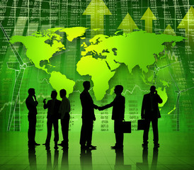 Group of Business People Working on A Global Economy