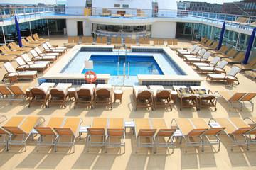 Swimming pool area at cruise ship