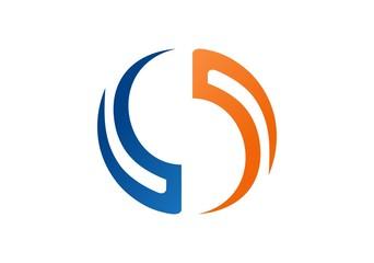 circle logo geometry balance vector element sphere globe
