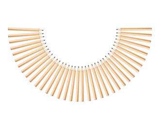 pencils semicircle
