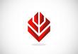abstract shape construction vector logo