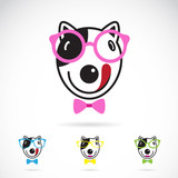 Fototapety Vector image of a dog glasses on white background.