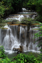 High and Beautiful waterfall in forest