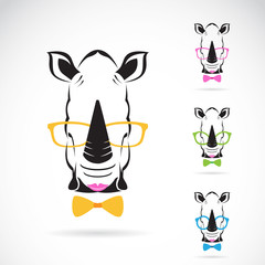 Vector image of a rhino glasses on white background.
