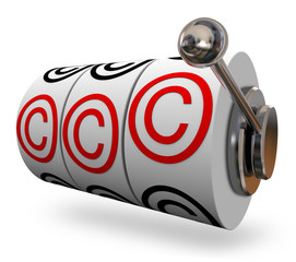Copyright Symbol Slot Machine Words Three C Letters