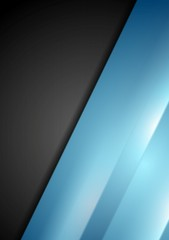 Abstract contrast black and blue background