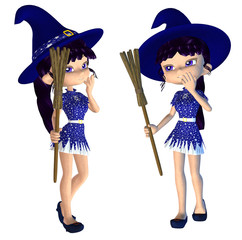 Cute 3d Witch