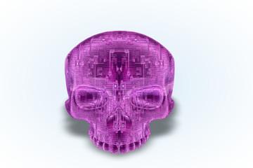 Pink Circuit Skull Series II