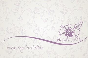Hibiscus , flower , wedding card design, India