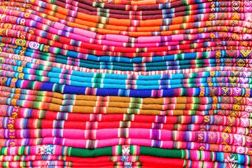 Colorful Fabrics in Bolivia